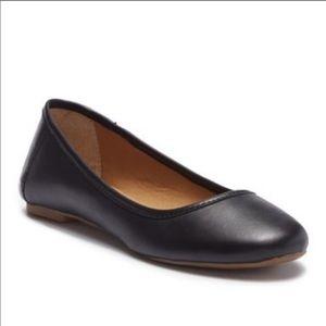 Lucky Brand Eaden leather black ballet flat size 7